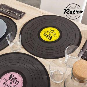 Set 4 Manteles individuales Disco de Vinilo vintage