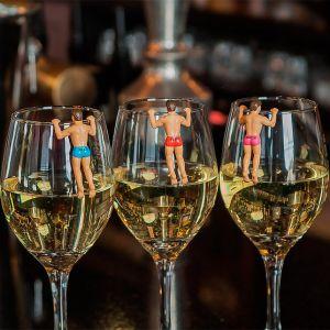 Marcadores para copas y vasos chicos en bañador