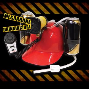 Casco bebida megáfono con sonidos
