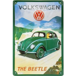 Placa decorativa de metal Beetle o Escarabajo de Wolkswagen