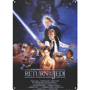 "Placa metal ""Return of the Jedi"""