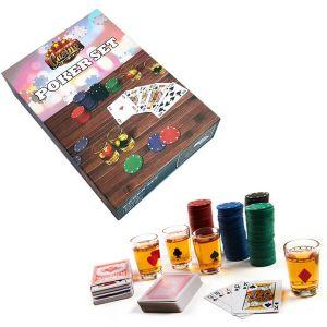 Set Juego de Poker con chupitos