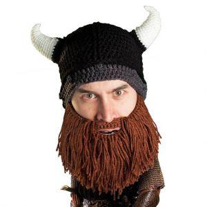 Gorro con barba Saqueador Bárbaro