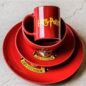 Set vajilla 4 piezas Gryffindor: Harry Potter