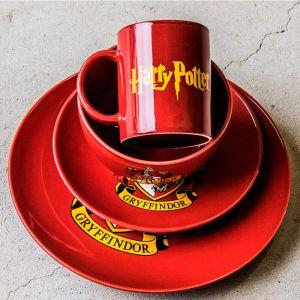Set vajilla 4 piezas Gryffindor: Harry Potter