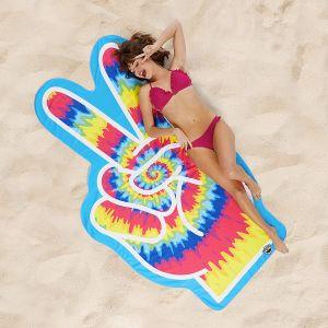Toalla símbolo de la Paz hippie gigante