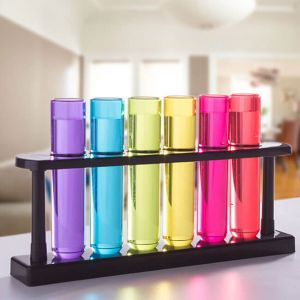 Chupitos de colores tubos de ensayo
