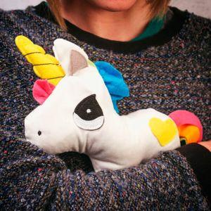 Unicornio calentador para microondas