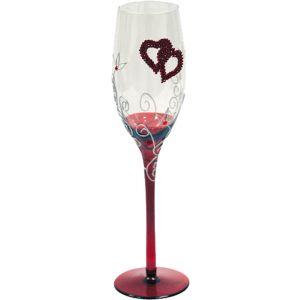 Copa champagne corazones