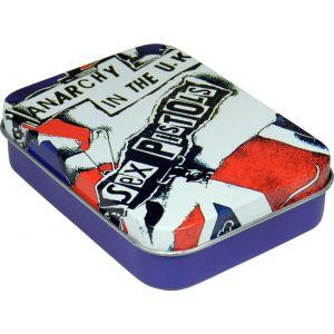 Caja de metal con cartas Sex Pistols