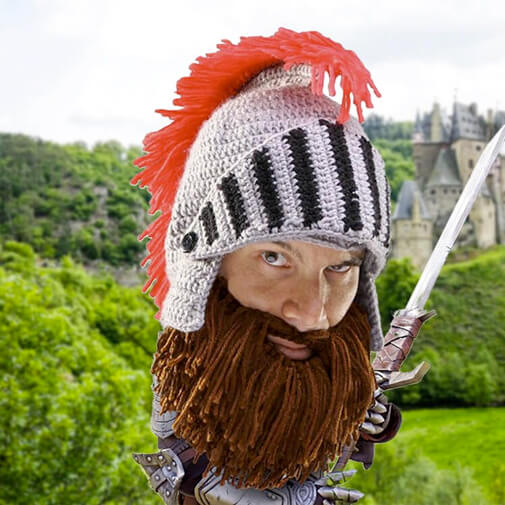 Gorro con barba gladiador