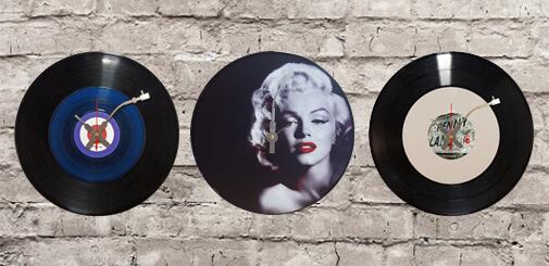 Relojes de pared Vinilos reciclados